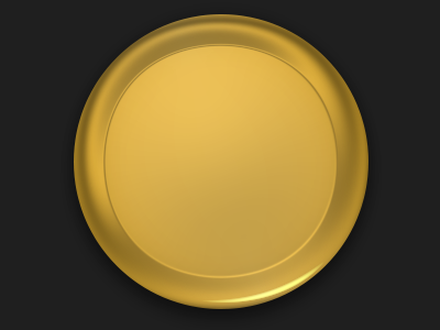 Medallion gold one layer style