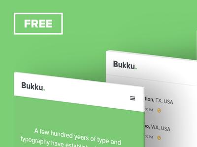 Bukku - FREE eBook HTML/CSS Template by Luka Cvetinovic - Dribbble