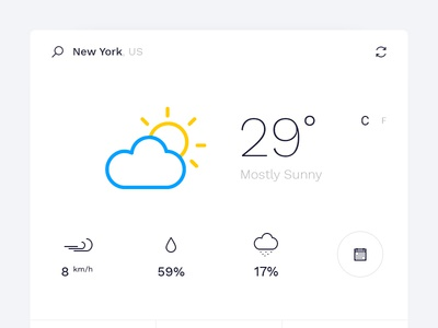 Minimal Weather Widget Design
