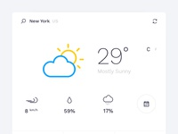 Minimal Weather Widget Design