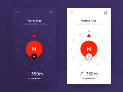 Compass App Design minimal clean directions ux ui design mobile android ios navigation app compass