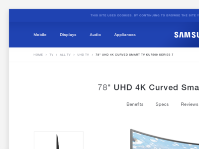Samsung Product Page - Website Redesign Concept