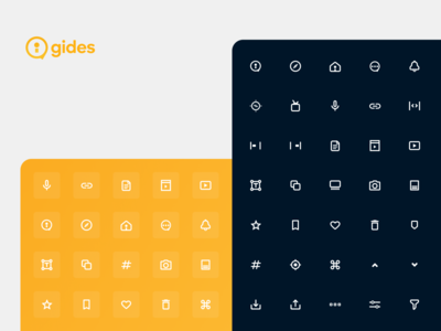 System icons for Gides ui brand color palette vector illustrator clean uiux system icon icon design iconography icon set icon product design