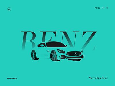 BENZ-AMG-GT-R icon vector design illustration