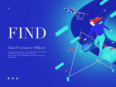 Chief creative officer illustration vector web illustration design