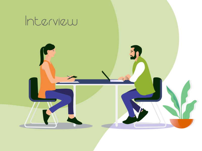Interview interview vector illustration