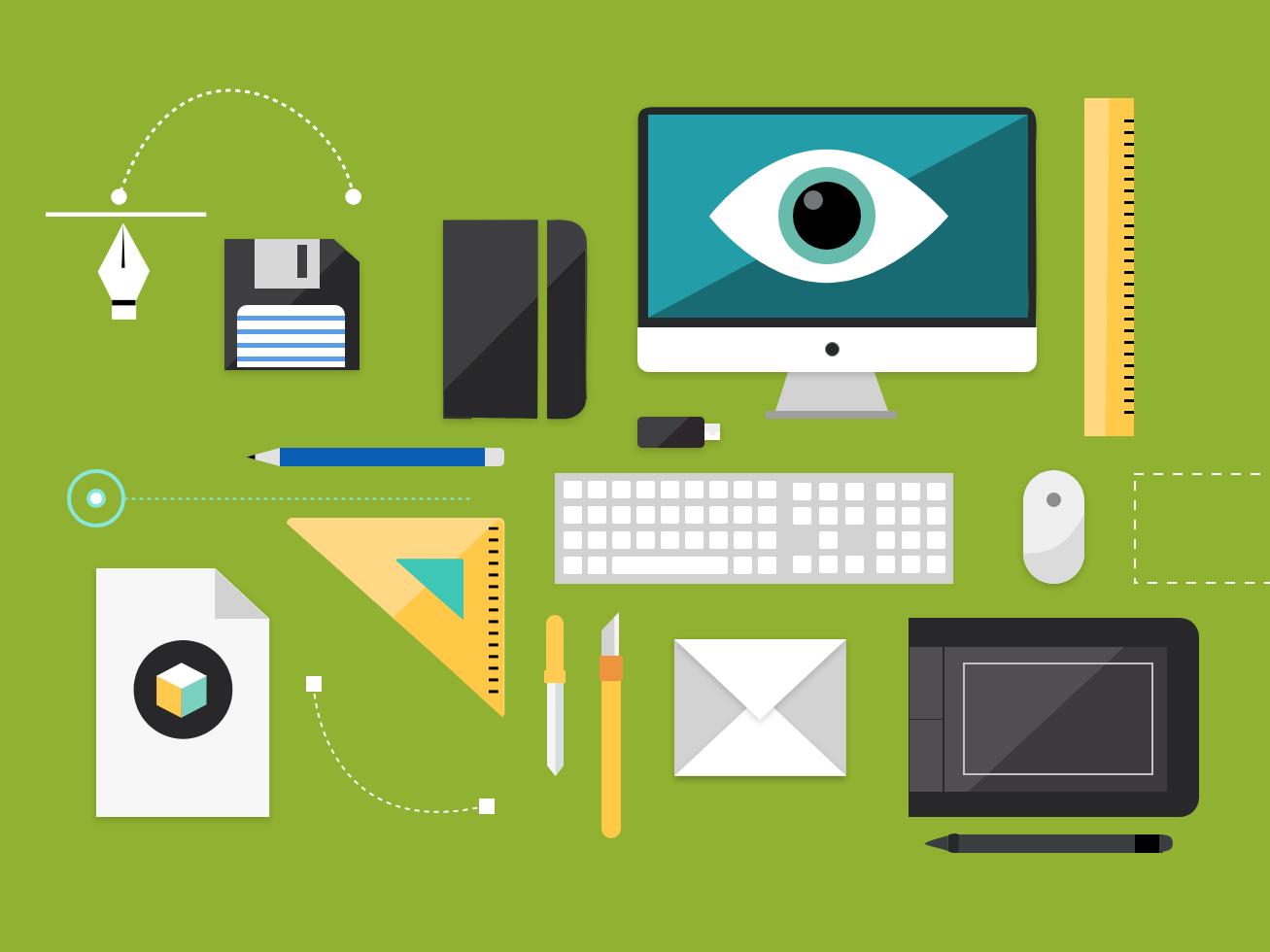 illustration for IT Industries it industries icons design vector illustration design