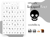 Boneyard regular Font