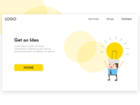 Get an Idea Landing Page