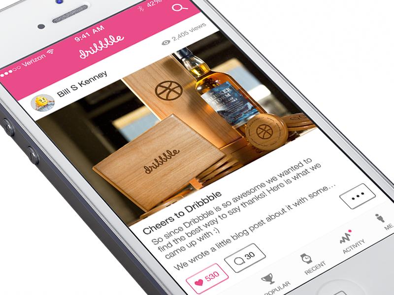 Instagram Style Dribbble Concept dribbble instagram concept ios7 iphone