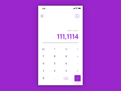 Calculator #DailyUi #4