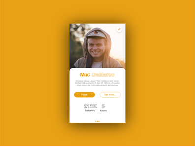 User Profile #DailyUi
