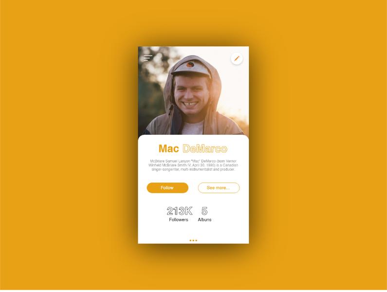 User Profile #DailyUi design dailyui ux app ui