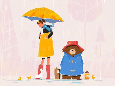 My Neighbour Paddington baby pregnant ducks paddinton character design illustration