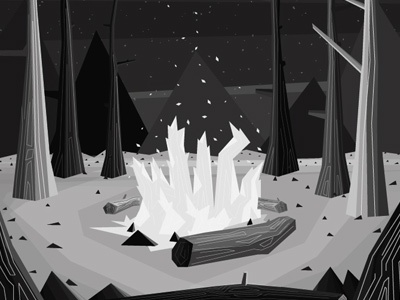 Setting the scene illustration texture cd artwork ghosts campfire