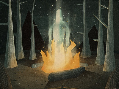 Ghostly Ghost Ghosts illustration texture cd artwork ghosts campfire