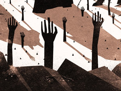 Poor Fools illustration texture cd artwork the dead shall rise