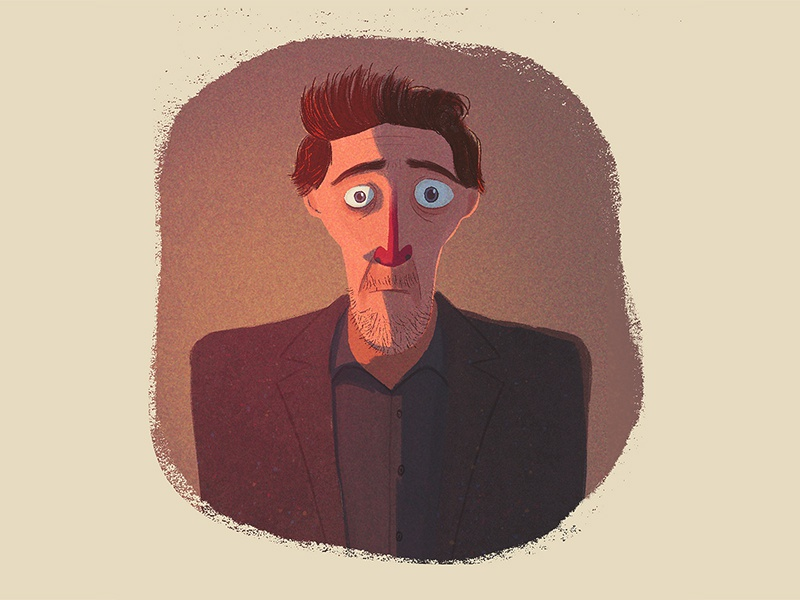 Dimensions self portrait character illustration