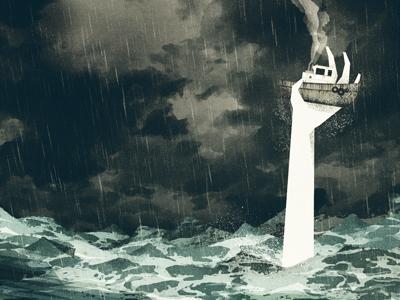 Poor Tugboat illustration texture cd artwork