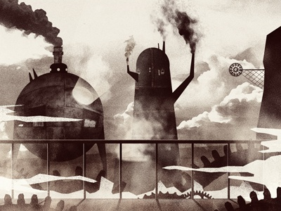 Steampunk illustration texture cd artwork sci-fi steampunk industrial