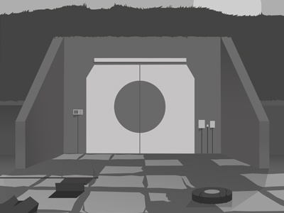 Bunker illustration cd artwork work in progress military bunker