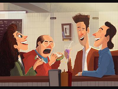 Seinfeld constanza george elaine kramer jerry seinfeld seinfeld illustration