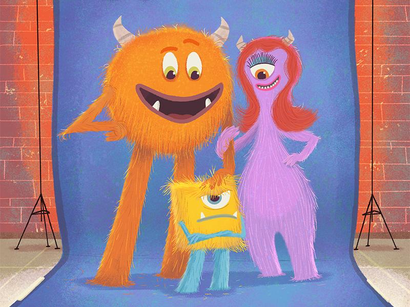 I'm Not Little horns book cover shaggy monster illustration