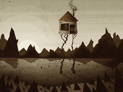 All My Friends The Third illustration cd artwork work in progress house thorns mountains sun