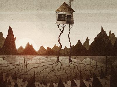 All My Friends - Morning illustration texture cd artwork house sunrise