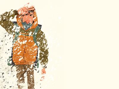The blizzard environment landscape climbing hiking blizzard illustration
