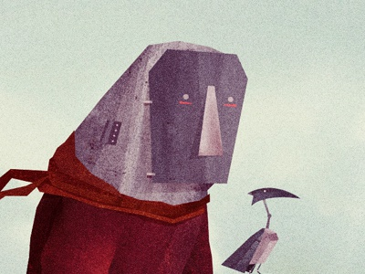 Best Friends illustration cd artwork bird robot best friends
