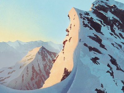 The climb environment landscape climbing hiking illustration