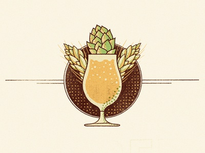 Beer 4 Lyf illustration identity logo insignia