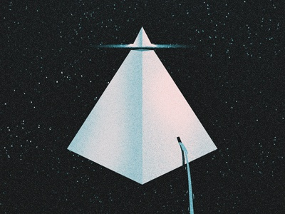 Future illustration texture cd cover pyramid waterfall space