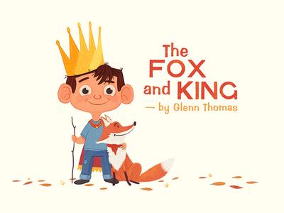 New Website logo rebrand fox boy king mascot illustration