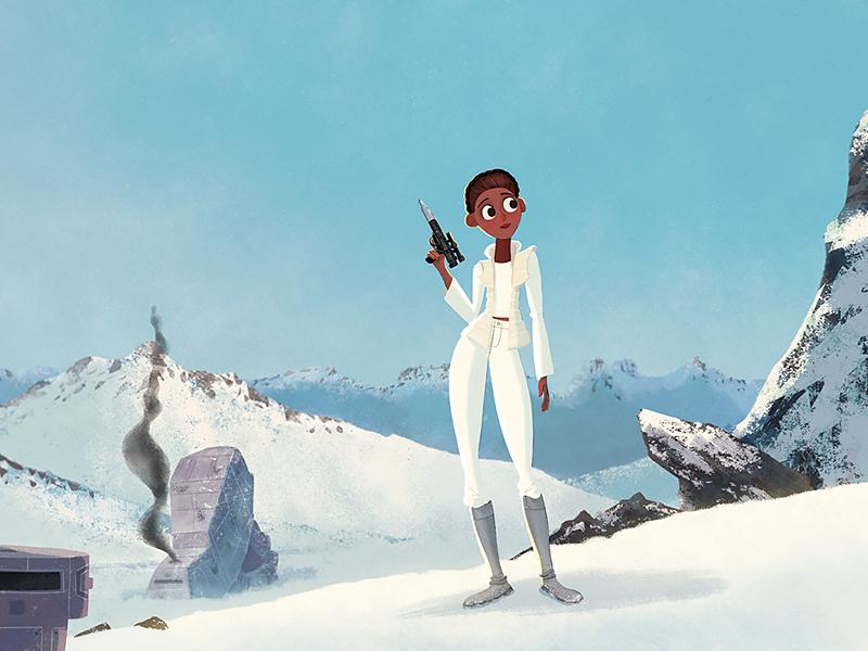 Winter Cosplay Hoth atat snow woman cosplay hoth star wars illustration