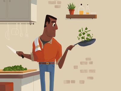 The Bachelor man bachelor bourbon whisky cooking illustration