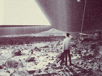 Stranded illustration texture photo manipulation composite invasion mars