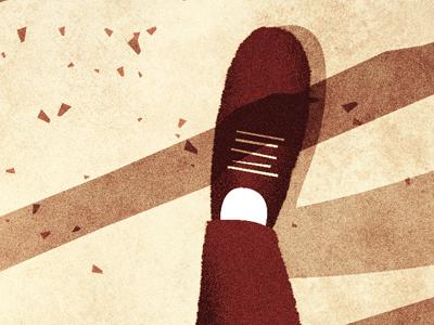 Foot illustration texture foot feet shoes legs leaves tree shadow