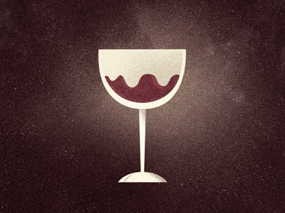 Glass O' Red illustration wine glass texture red wine