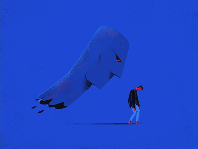 Void — 1. The Voice anxiety man head depression illustration