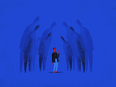 Void — 2. Strangers anxiety depression crowd man stranger illustration