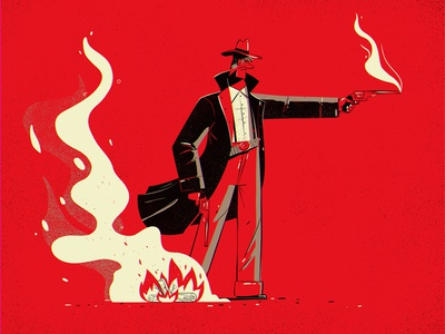 Hey, Arthur red dead redemption red dead shootout smoke campfire cowboy illustration