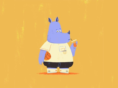 Rhino character design rhino illustration