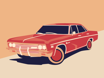 Chevrolet Impala 1967 poster art poster automobiles automobile auto 1967 impala chevrolet car art car illustrator art vector adobe illustrator adobeillustator illustration adobe design