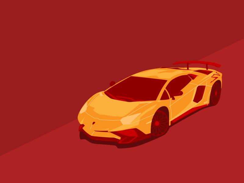 Lamborghini Aventador Superveloce By Victoria Dribbble Dribbble
