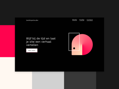 Personal site concept pink black  white dark figma character illustrator typography lettering vector logo web ui ux branding clean minimal gradient design illustration website