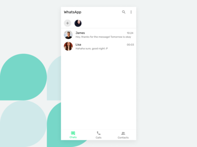 WhatsApp Android Concept
