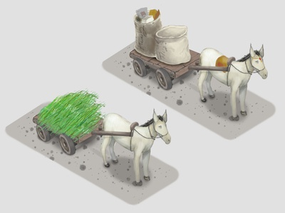 2D isometric game assets