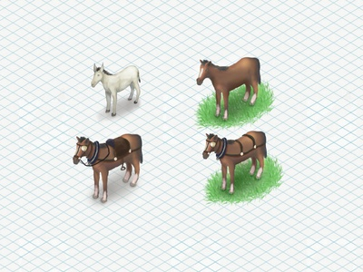 Horses game asset